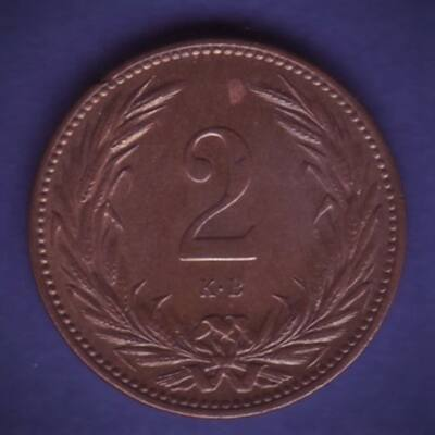 1901 2 fillér XF érme