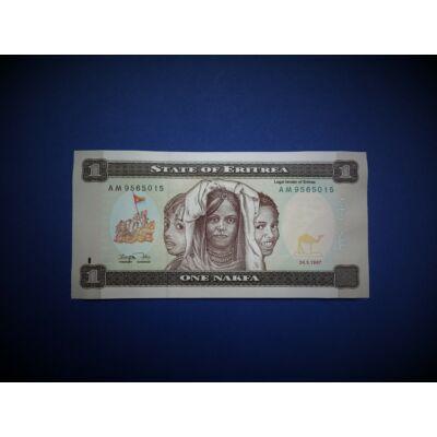 1997 Eritrea 1 Nakfa UNC bankjegy. Sorszámkövető is lehet!