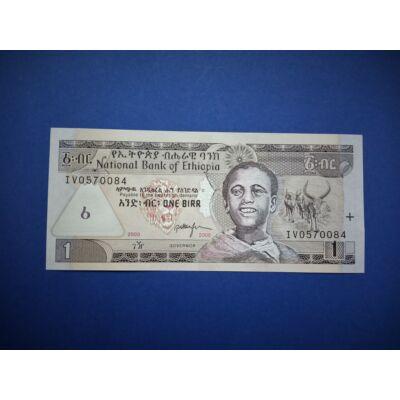 2008 Etiópia 1 Birr UNC bankjegy. Sorszámkövető is lehet!