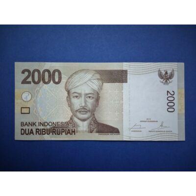 2015 Indonézia 2000 rupiah UNC bankjegy. Sorszámkövető is lehet! Numizmatika - bankjegyek