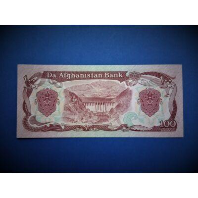1991 Afganisztán 100 Afghanis UNC bankjegy. Sorszámkövető is lehet!