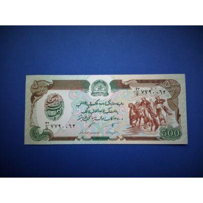 1991 Afganisztán 500 Afghanis UNC bankjegy. Sorszámkövető is lehet!