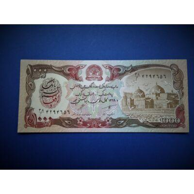 1991 Afganisztán 1000 Afghanis UNC bankjegy. Sorszámkövető is lehet!