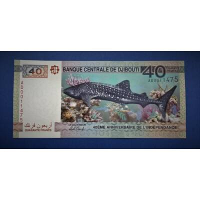 2017 Djibouti (Dzsibuti) 40 franc UNC bankjegy. Sorszámkövető is lehet!