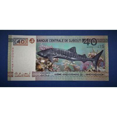 2017 Djibouti (Dzsibuti) 40 franc UNC bankjegy. Sorszámkövető is lehet! Numizmatika - bankjegyek