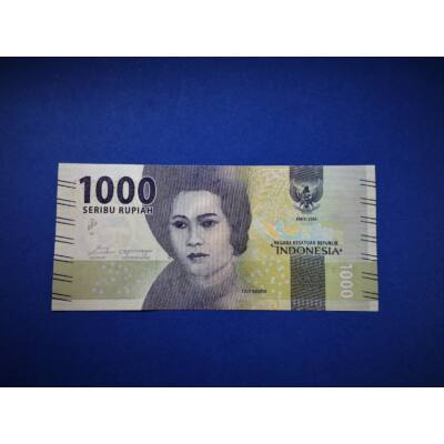 2016 Indonézia 1000 Rupiah (Rúpia) UNC bankjegy. Sorszámkövető is lehet! Numizmatika - bankjegyek