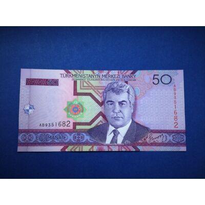2005 Türkmenisztán 50 Manat UNC bankjegy. Sorszámkövető is lehet!