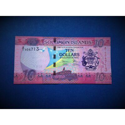 2017 Salamon szigetek 10 dollár UNC bankjegy. Sorszámkövető is lehet!