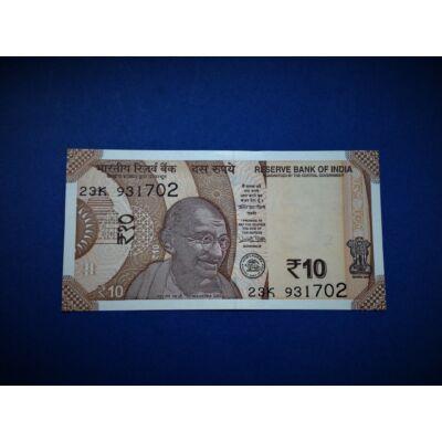 2018 India 10 Rupees(Rúpia) UNC bankjegy. Sorszámkövető is lehet!