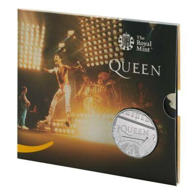 2020 5 Font 50 éves a Queen együttes emlékérme BU kivitel díszcsomagban